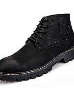 cheap -Men's Shoes PU Spring Fall Comfort Boots Booties/Ankle Boots for Casual Black