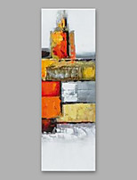 cheap -Hand-Painted Abstract Vertical, Modern Oil Painting Home Decoration One Panel