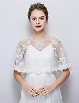 cheap -Sleeveless Lace Wedding Party / Evening Women's Wrap With Lace-trimmed Bottom Capelets