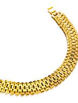 Недорогие -Муж. Браслеты-цепочки и звенья металлический Мода Позолота Бижутерия Для вечеринок Подарок Бижутерия