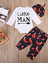 cheap -Baby Unisex Daily Sports Print Animal Print Clothing Set, Cotton Spring Fall Cute Casual White