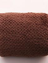 abordables -Style frais Serviette, Couleur Pleine Qualité supérieure Polyester/Coton Etoffe plaine Serviette