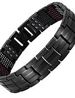 preiswerte -Herrn Ketten- & Glieder-Armbänder Hologramarmband , Freizeit Cool Stahl Titan Kreisform Schmuck Normal Alltag Modeschmuck
