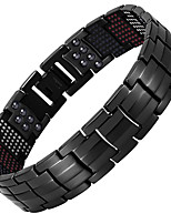 cheap -Men's Chain Bracelet Hologram Bracelet , Casual Cool Steel Titanium Circle Jewelry Causal Daily