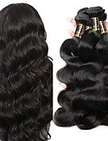 cheap -Peruvian Hair Body Wave Human Hair Weaves 4pcs 0.2