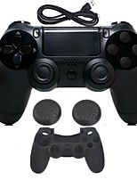 abordables -for PS4 Sin Cable Bluetooth 3.0 Cargador y Adaptador - Sony PS4 0 Con Cargador Empuñadura de Juego Control de Flash Inalámbrico Vibración