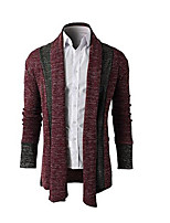 cheap -Men's Cardigan - Striped, Print Shirt Collar