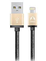 cheap -Lightning USB Cable Adapter Braided Quick Charge Cable For iPhone 200 cm Nylon