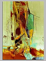 cheap -Hand-Painted Abstract Vertical, Comtemporary Canvas Oil Painting Home Decoration One Panel