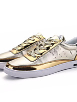 cheap -Men's Shoes PU Spring Fall Comfort Sneakers for Casual Gold Black Silver