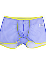 cheap -Men's Inelastic Solid Boxers Underwear Thin, Cotton Polyester 1pc Blue White Black Red Light Blue