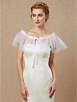 cheap -Sleeveless Tulle Wedding Party / Evening Women's Wrap With Lace-up Cascading Ruffles Capelets