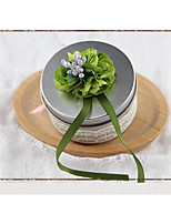 cheap -Circular Iron(nickel plated) Favor Holder with Sashes/ Ribbons Favor Boxes - 1pc