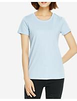 abordables -Tee-shirt Femme,Couleur Pleine simple