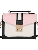 cheap -Women's Bags PU Shoulder Bag Sashes/ Ribbons for Casual All Seasons Black Blushing Pink Gray