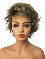 cheap -Synthetic Wig Straight Highlighted/Balayage Hair Layered Haircut Pixie Cut Capless Blonde Celebrity Wig Natural Wigs 13cm(Approx5inch)