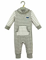 cheap -Baby Boys' Daily Striped One-Pieces, Cotton Spring Fall Casual Half Sleeves Light gray Royal Blue