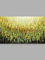 Недорогие -Ручная роспись Цветочные мотивы/ботанический Горизонтальная, Modern Hang-роспись маслом Украшение дома 1 панель