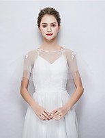 cheap -Sleeveless Tulle Wedding Party / Evening Women's Wrap With Rhinestone Capelets