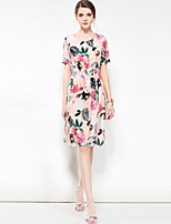 cheap -Women's A Line Dress - Floral, Basic
