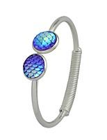 abordables -Femme Manchettes Bracelets , simple Décontracté Tourmaline d'imitation Alliage Forme de Cercle Bijoux Fête scolaire Rendez-vous