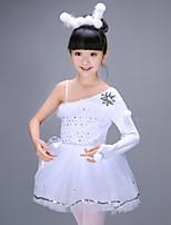 abordables -Ballet Robes Fille Entraînement Polyester Motif / Impression Paillette Combinaison Manches Longues Taille haute Robe