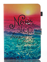 cheap -Case For Samsung Galaxy Tab A 10.1 (2016) Wallet with Stand Flip Pattern Auto Sleep/Wake Up Full Body Cases Word / Phrase Hard PU Leather