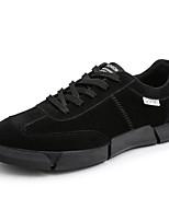 Недорогие -Муж. обувь Замша Весна Осень Светодиодные подошвы Кеды для Повседневные Черный Серый Красный