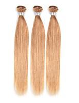 abordables -Cheveux Brésiliens Droit A Ombre 3 offres groupées Tissages de cheveux humains Blond de fraise / Droite