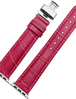 cheap -Watch Band for Apple Watch Series 3 / 2 / 1 Apple Butterfly Buckle Leather Wrist Strap