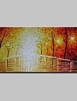 abordables -Peint à la main Abstrait Paysage Format Horizontal, Moderne Peinture à l'huile Hang-peint Décoration d'intérieur Un Panneau