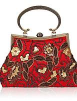 preiswerte -Damen Taschen Polyester Abendtasche Perlenstickerei Stickerei für Hochzeit Veranstaltung / Fest Ganzjährig Blau Schwarz Rote Dunkelrot
