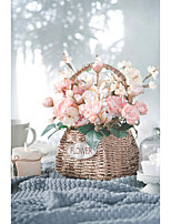 cheap -modern baskets personalized desktop crafts dried flowers decoration living room creative