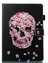 cheap -Case For Apple iPad 10.5 iPad (2017) Wallet with Stand Flip Pattern Auto Sleep/Wake Up Full Body Cases Skull Hard PU Leather for iPad