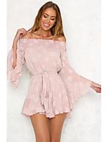 preiswerte -Damen Festtage Sexy A-Linie Mini Kleid, Spitze Volltonfarbe Ständer Langarm