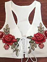 cheap -Women's Polyester Tank Top - Floral Strap