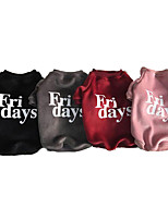cheap -Dogs Sweatshirt Dog Clothes Casual/Daily Quotes & Sayings Gray Red Pink Black Costume For Pets