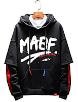 cheap -Men's Plus Size Hoodie - Letter