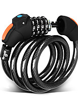 cheap -wg107- mountain bike lock portable wirerope 4 digital code lock password wirerope led