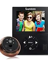 Недорогие -danmini yb-30chd-m-3.0-inch камера ночного видения аудио-видео система обнаружения движения электронная кошачий глаз камера видео-видео