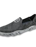Недорогие -Муж. обувь Искусственное волокно Весна Осень Светодиодные подошвы Мокасины и Свитер для Повседневные Черный Синий Хаки