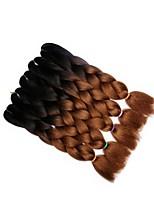 preiswerte -Gewebe 5er-Pack 5 Stück Haarzöpfe Geflochten Wellen 56cm Farbverlauf Afrikanische Zöpfe Chemische Faser Schwarz / Medium Browm