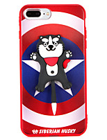 cheap -Case For Apple iPhone 8 Plus iPhone 7 Plus Pattern Back Cover Dog Soft TPU for iPhone 8 Plus iPhone 7 Plus