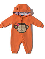 cheap -Baby Girls' Daily Sports Solid One-Pieces, Cotton Winter Fall Active Orange