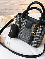 cheap -Women's Bags Denim Shoulder Bag Buttons for Casual Spring Fall Black Coffee Brown