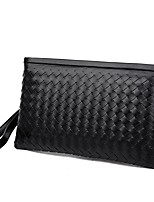 cheap -Men's Unisex Bags PU Clutch Tiered Zipper for Shopping Casual All Seasons Black