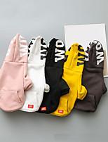 Недорогие -Собаки Толстовки Одежда для собак Мода Английский Цитаты и выражения Белый Серый Желтый Розовый Черный Костюм Для домашних животных