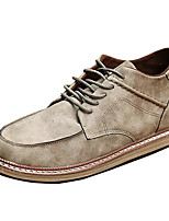 cheap -Men's Shoes PU Spring Fall Comfort Oxfords for Casual Khaki Light Brown Black