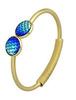 abordables -Femme Manchettes Bracelets , simple Décontracté Tourmaline d'imitation Alliage Forme de Cercle Bijoux Fête scolaire Rendez-vous Bijoux de