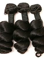 Недорогие -Бразильские волосы Свободные волны Ткет человеческих волос 3шт Человека ткет Волосы